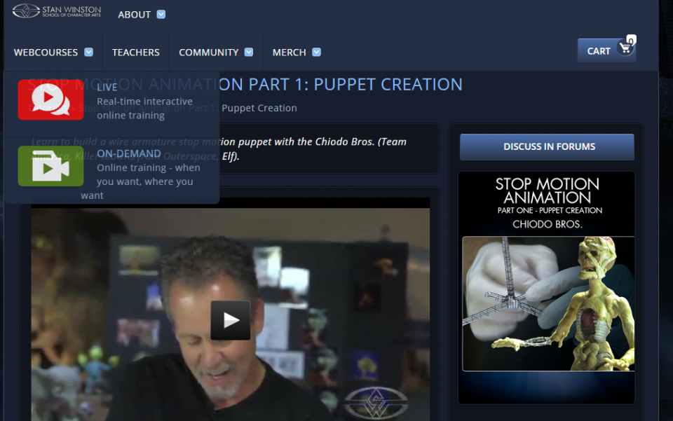 Stan Winston Trial Stop Motion Course 01
