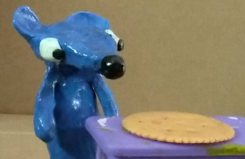 New shiny looking  bloo rat model i love the way the gloss makes him stick out much more