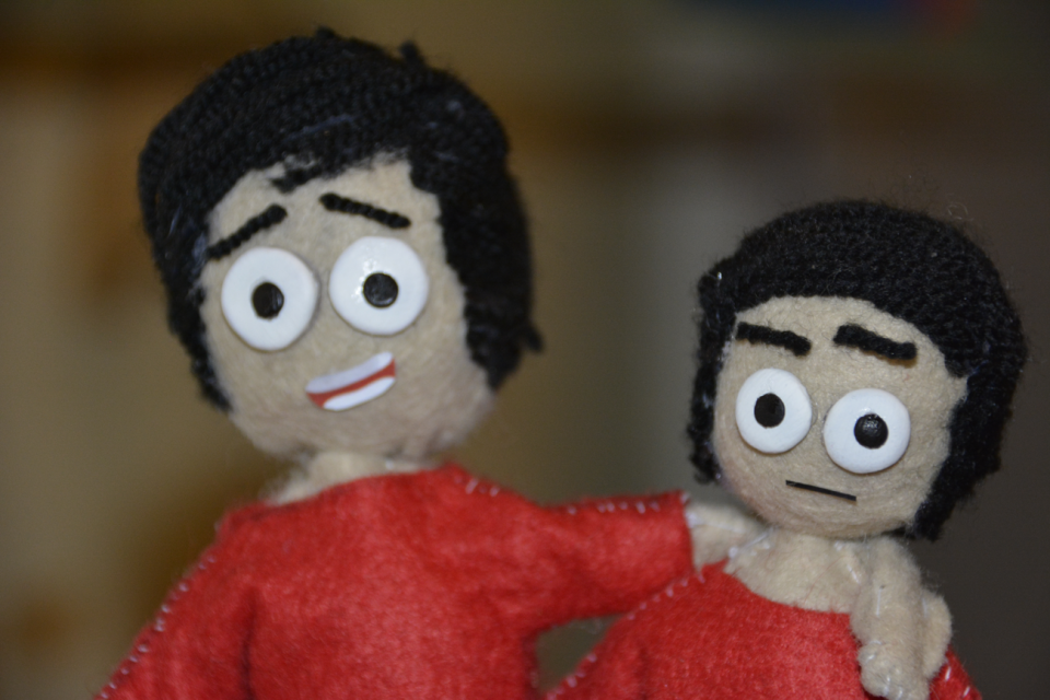 Here are some puppets I finished about 15-20 days ago. I made 5 puppets in total. But in these pictures I just show the process.