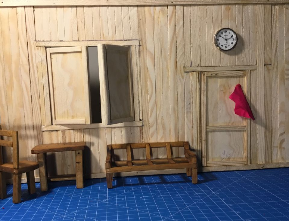 My first miniature set for Stop-motion animation.