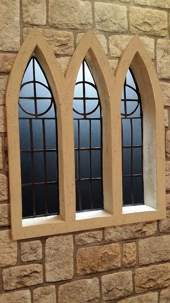 This is a castle window I made as part of my a new set I am building.