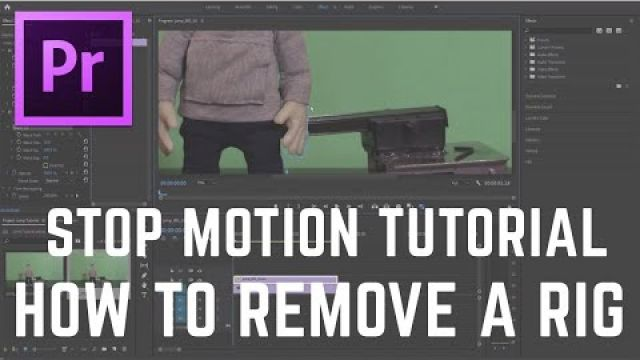 Stop Motion Tutorial - How to remove a rig in Premiere Pro