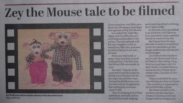 Zey The Mouse Newspaper Articles 2018 2019 British Stop Motion Animation